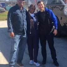 Wild Wayne Blood Drive Staff and Nick Piazza